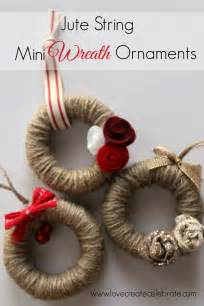 jute string mini wreath ornaments love create celebrate