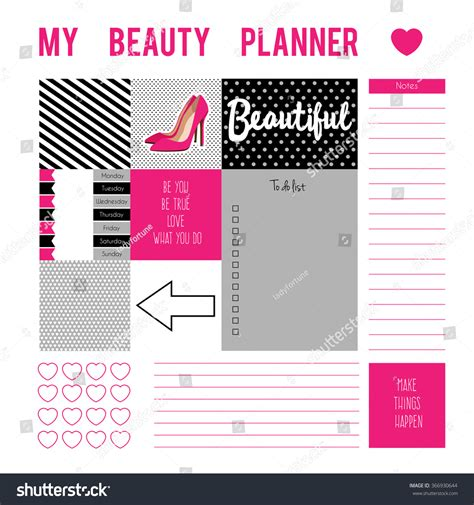 printable stock quotes planner page stickersprintable files vector printable