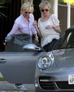 Degeneres Porsche Loved Up Degeneres And Portia De Take A Stroll