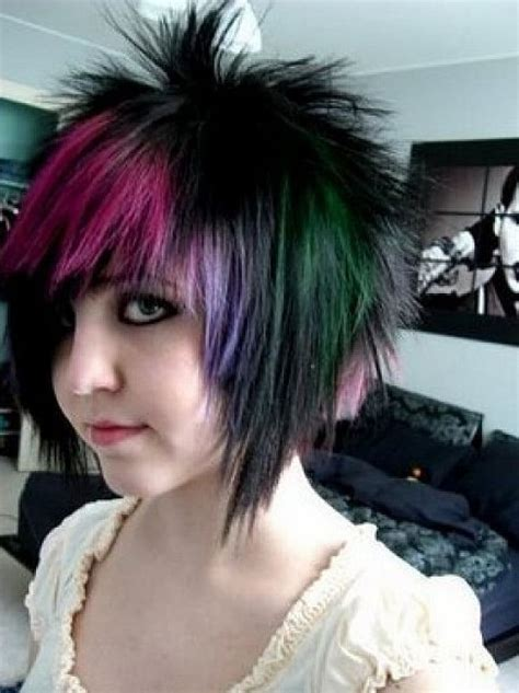 diy emo hairstyles short scene hairstyle for girls styles weekly