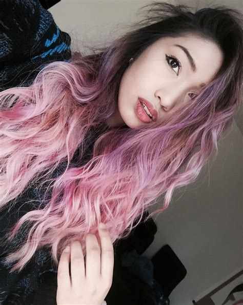 pastel lavender lilac pink ombre hair  dark roots