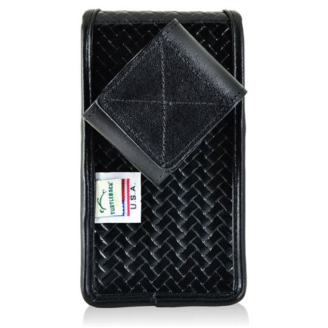Iphone 6s Plus Leather Black 2 iphone 6s plus samsung s7 edge pouch holster vertical snap closure black basketweave