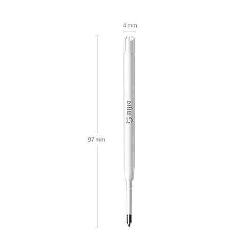 Original Xiaomi Ink Refill For Metal Roller Sign Pen 3pcs original xiaomi mijia refills for xiaomi metal sign pen replaceable black refill mikuni ink