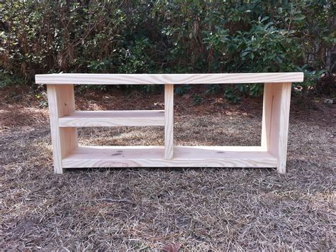 coastal oak designs farmhouse bench  shoe  boot