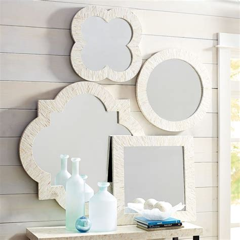 mother of pearl bathroom mirror ivory mother of pearl 24 square mirror goodglance