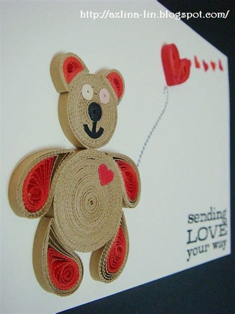 Handmade Teddy Cards - 1000 images about quilling on quilling