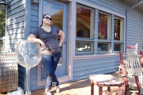 ridiculously large decorative wine glass seek  travel