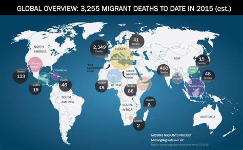 australia global map missing migrants project global map 17 august 2015