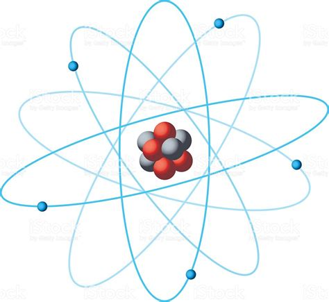 diagram of a atom atom structure diagram stock vector more images of