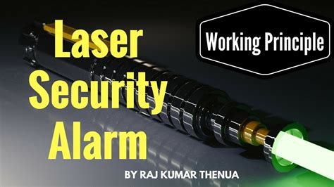 how does a laser security system circuit works