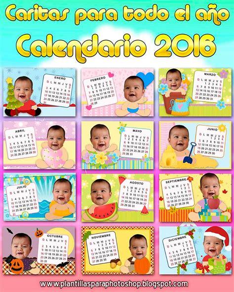 Calendario Para Bebes Caritas De Bebe Todo El A 241 O 2016 Calendarios 2018 Para