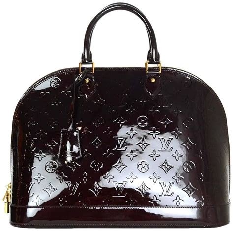Louis Vuitton Dust Bag louis vuitton amarante monogram vernis alma gm with dust bag for sale at 1stdibs