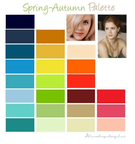 warm autumn color palette warm spring color palette health fitness pinterest