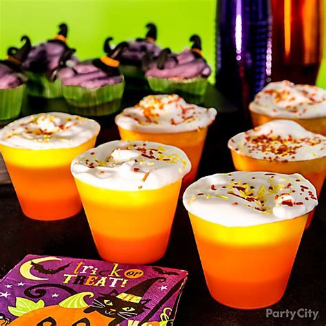 halloween drinks kid friendly kid friendly candy corn inspired drink idea party city