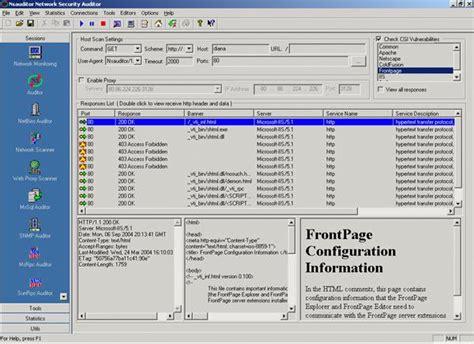website open port scanner nsauditor network security auditor screenshots