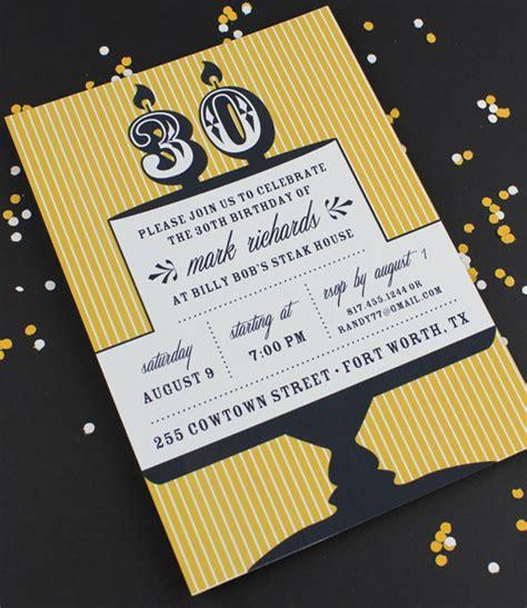 Milestone Candle Birthday Invitation Template 30th Download Print Candle Invitations Templates