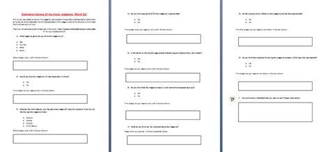 magazine layout evaluation magazine my evaluation survey layout