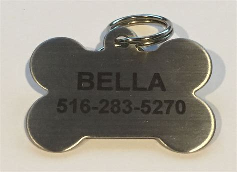 stainless steel tags custom personalized stainless steel bone tag cat tag pet id tag name tag ebay