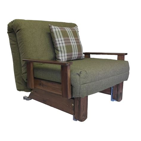 Single Futon Chair Bed Kensington Single Chair Bed Wood Stain Colours Sofabedbarn Co Uk