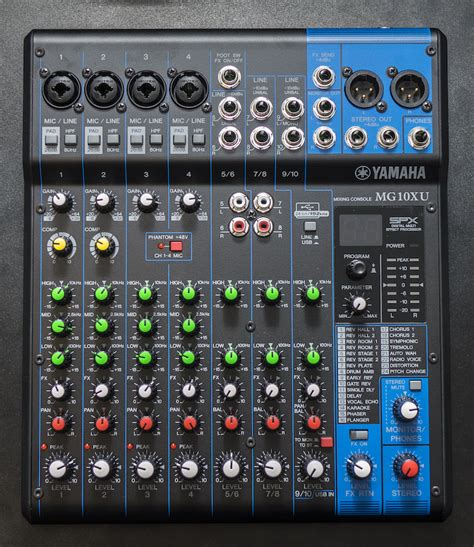 Mixer Audio Yamaha 6 Channel review yamaha mg10xu the mg series gets more goodies