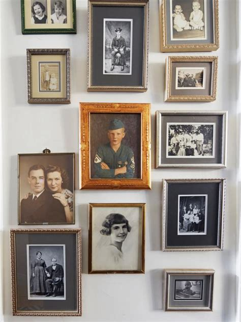 family portrait wall photo page hgtv