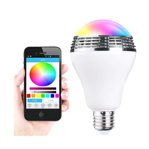 led light bulbs with wifi speakers intelligent ac90v 240v 10w audio speakers l dimmable