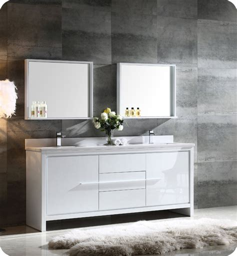 White Modern Bathroom Vanity by Fresca Fvn8172wh Allier 72 Quot Sink Modern Bathroom
