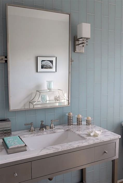 blue gray bathroom ideas mabley handler bathrooms blue glass tiles