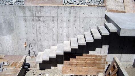 Exterior Concrete Cantilevered Stair Frontal esquimalt cantilevered conc stair 171 home building in vancouver