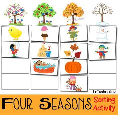free printable preschool spring activities four seasons sorting activity free printable free