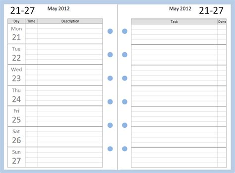 diary calendar template free printable weekly calendar templates we