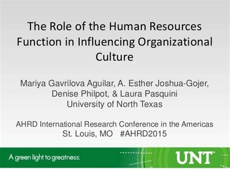 187 Organizational Culture S Role In Facebook S Success | the role of the human resources function in influencing