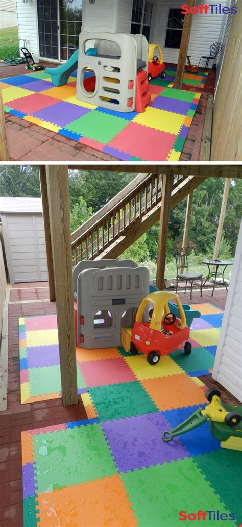 outdoor patio cushioned childrens play mat