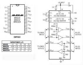 max232 ic pin diagram rs232 converter dip max232cpe maxim