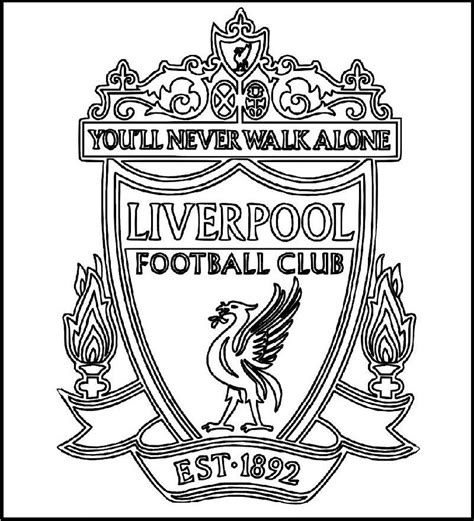 coloring pages football clubs liverpool football club logo coloring printable picture