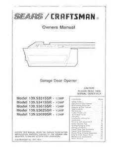 139 53615sr craftsman garage door opener