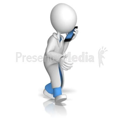 Doctor Or Nurse Talking On Phone Signs And Symbols Great Clipart For Presentations Www Presenter Medi