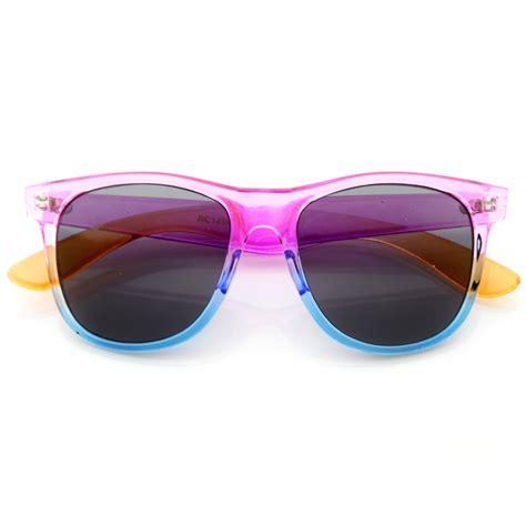colorful sunglasses new summer splash colorful gradient neon translucent