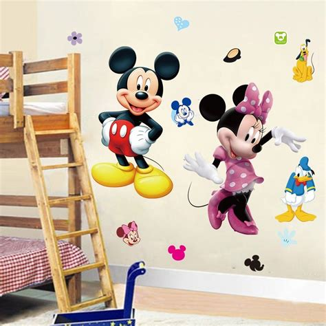 mickey and minnie mouse home decor diy mickey mouse minnie pvc wall sticker decals kids