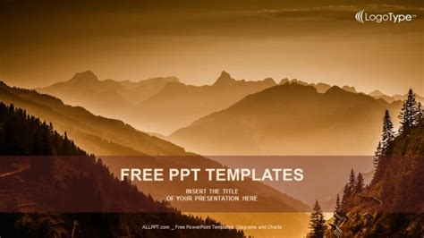 powerpoint templates free mountains layers of mountains powerpoint templates