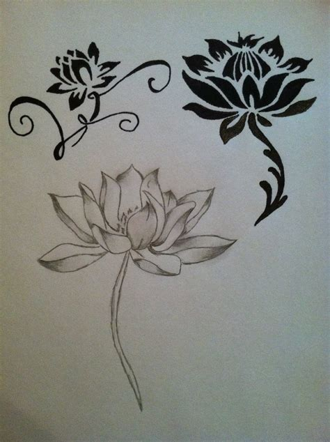 lotus flower tribal tattoo flower images designs