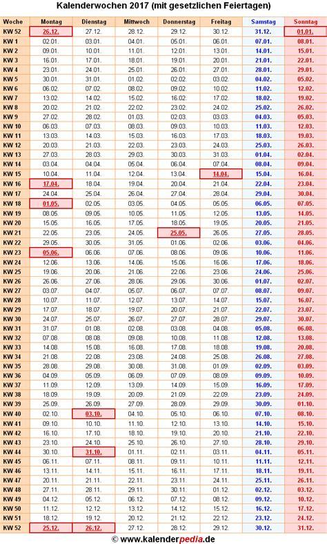 Kw Kalender 2017 Kalenderwochen 2017 Mit Vorlagen F 252 R Excel Word Pdf