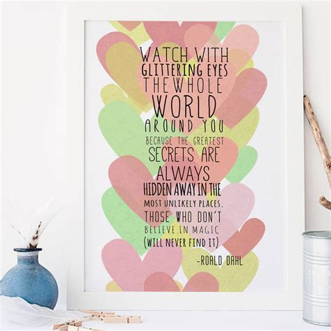 roald dahl quote printable nursery art print baby girl because i heart roald dahl nursery art print by rory the