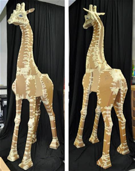 How To Make A Paper Mache Giraffe - raymond kaselau nesse the nine foot giraffe