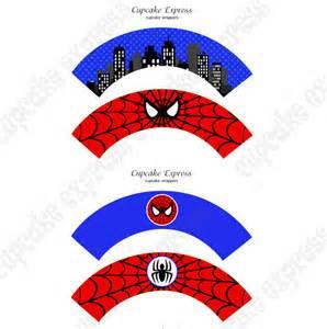 spiderman printable cupcake wrappers diy