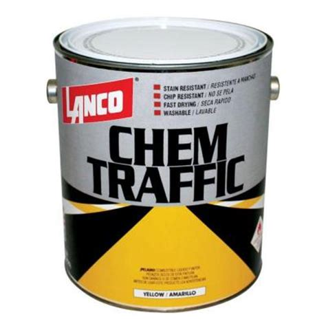 lanco chem traffic 1 gal yellow paint ct401 4 the home depot