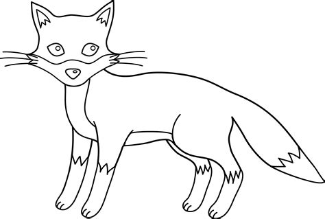 Fox Drawing Outline by Fox Line Free Clip