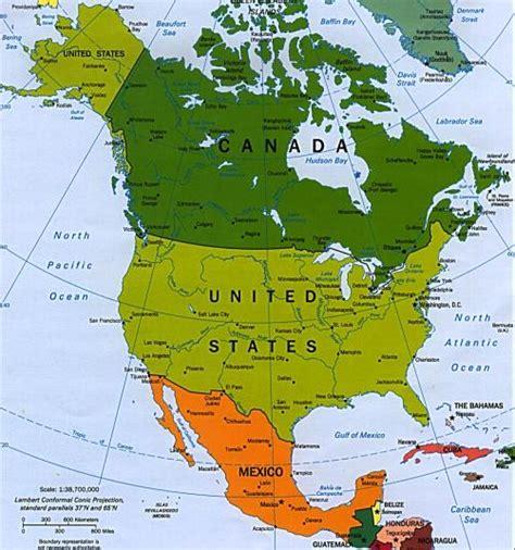 america mapa nombres viajaportumundo mapa am 233 rica norte