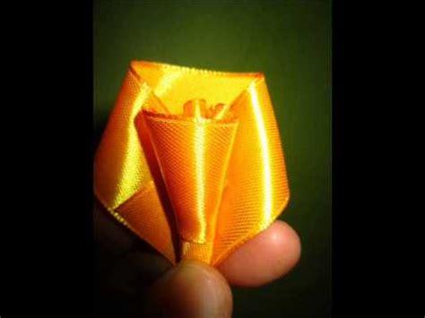cara membuat origami dari pita cara membuat mawar dari pita youtube