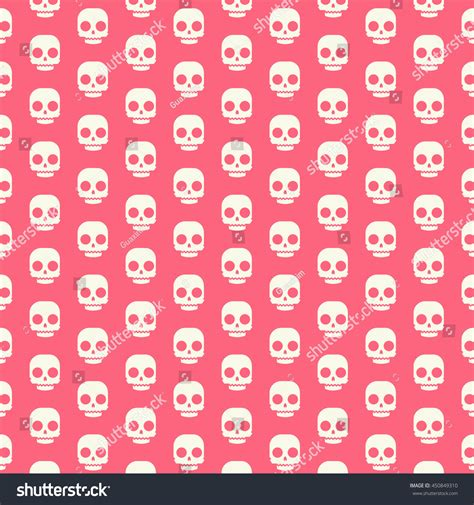 cute icon pattern cute icon skull pattern stock vector illustration